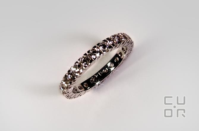 Alliance Ring Weissgold mit 1.45 ct Brillanten. 3700.-