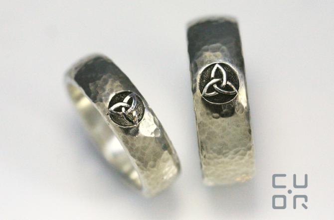 Trauringe Silber mit keltischem Motiv, Kundenauftrag
